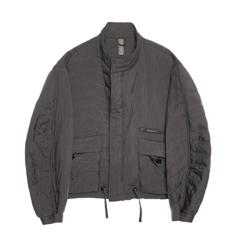 [UNAFFECTED] Multi Quilted Blouson (Charcoal)