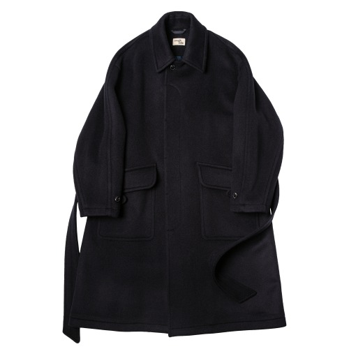 [rough side] Rover Coat (Dark Navy)