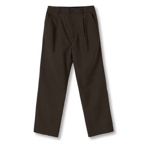 [YOUTH] Backside Turn Up Pants (Brown)