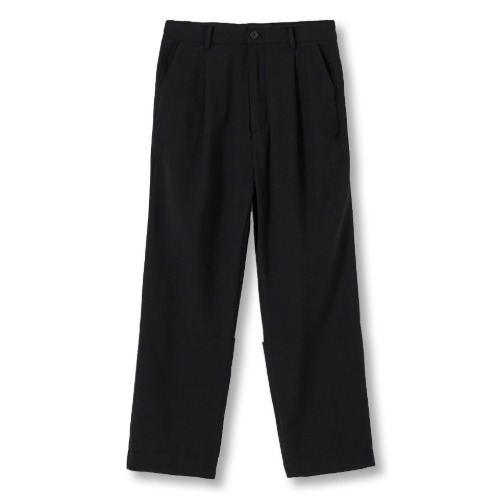 [YOUTH] Backside Turn Up Pants (Black)