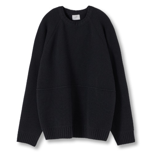 [YOUTH] Structured Sweater (Black)