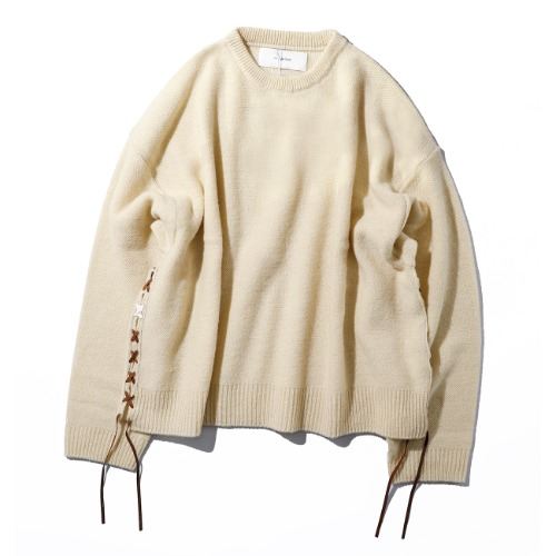 [wonderland] Crewneck Knit (White)