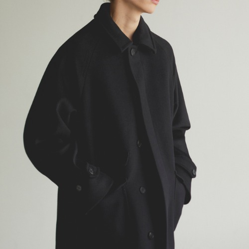 [art if acts] Balmacaan Coat (Black)