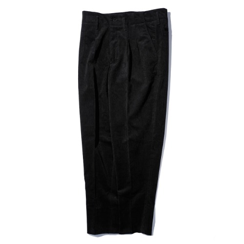 [AUBETT] Corduroy 2 Tuck Trousers (Black)