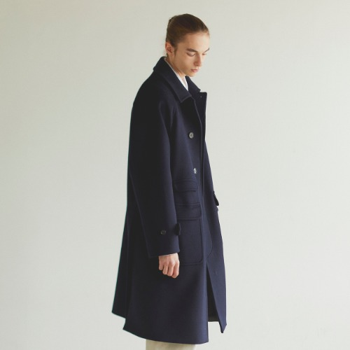 [art if acts] Balmacaan Coat (Navy)