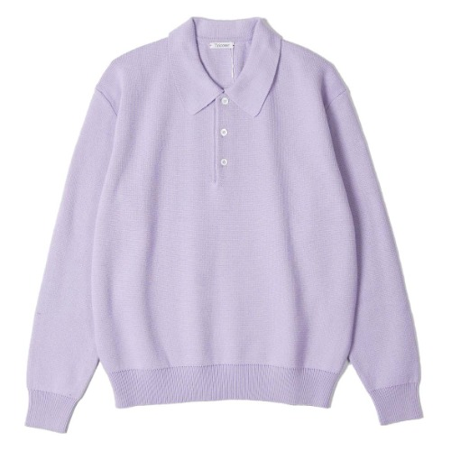 [TRICOTER] Low Gauge Polo Knit (Lavender)