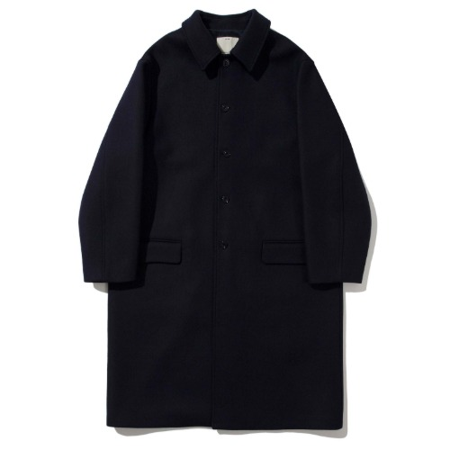 [POTTERY] Melton Wool Mac Coat (Dark Navy)