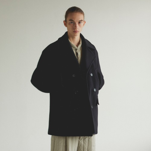 [art if acts] Oversized Pea Coat (Black)