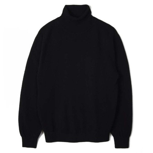 [TRICOTER] Cashmere Blend Rollneck Sweater (Black)