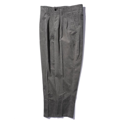 [AUBETT] Corduroy 2 Tuck Trousers (Grey)