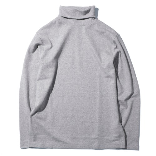 [AUBETT] Circular Rib Turtleneck (Grey)