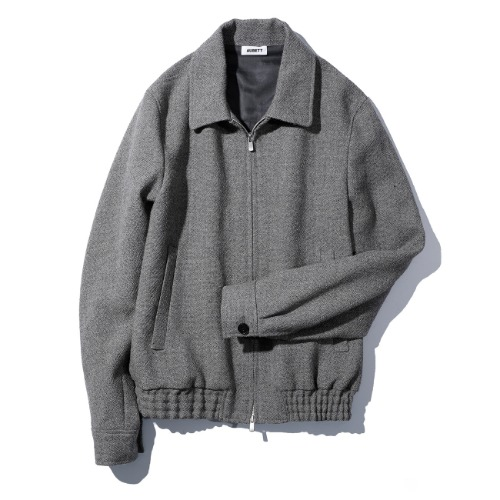 [AUBETT] Tweed Zip Up Jacket