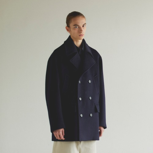 [art if acts] Oversized Pea Coat (Navy)