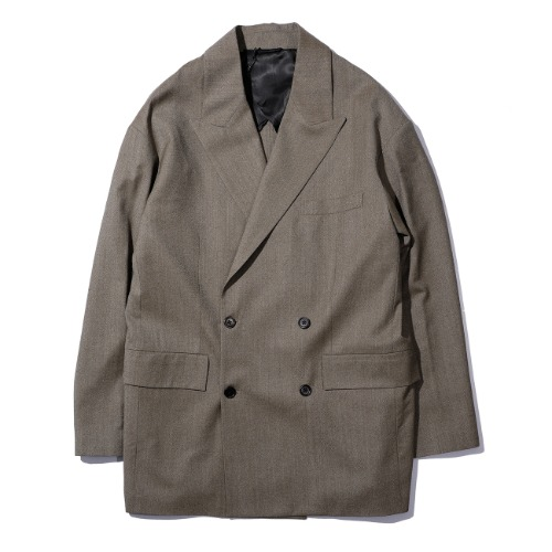 [MFPEN] Double Breasted Easy Blazer (Brown)