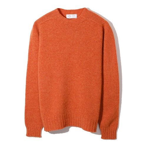 [Esk Valley Knitwear] Andy Seamless Shetland (Burnt Orange)