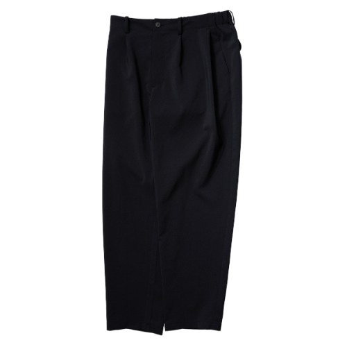 [STILL BY HAND] Deep Tuck Easy Pants (Black)