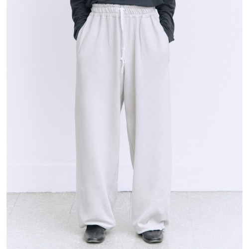 [polyteru] Wide Sweat Pants (Light Gray)