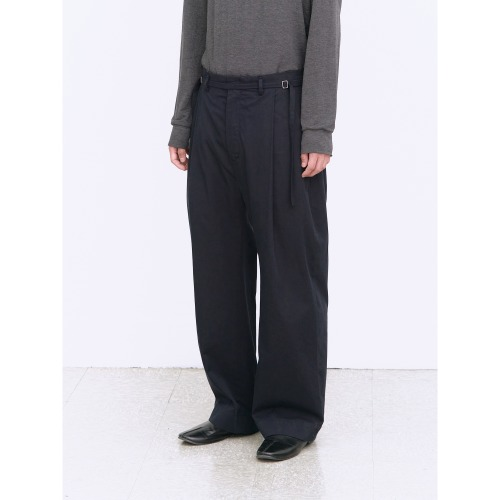 [polyteru] Curved Soh Pants (Dark Navy)