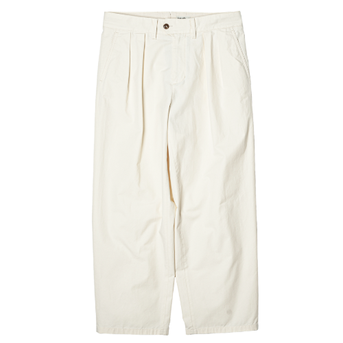 [rough side] 2-Tuck Wide Pants (Off White)