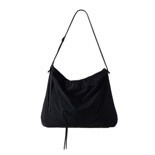 [polyteru] Shirring Bag (Black)