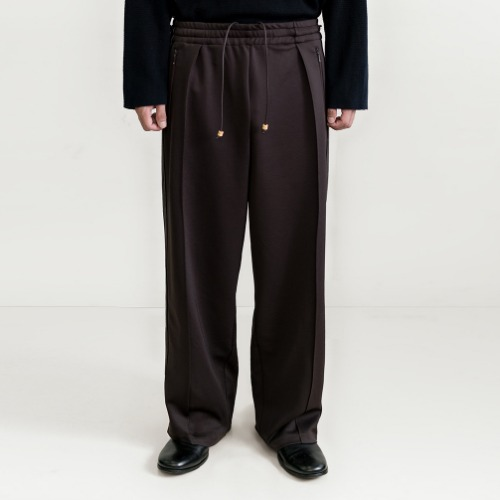 [polyteru] Track Pants (Purple Brown)