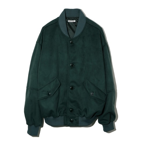 [BIRTHDAYSUIT] Eco Suede Blouson (Green)