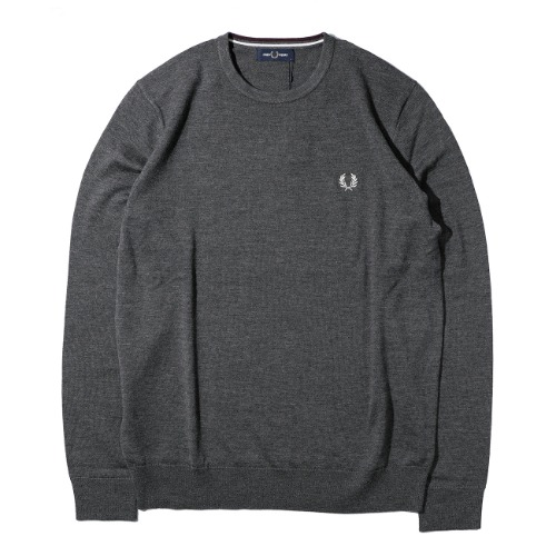 [FRED PERRY] Classic Crew Neck Knit (Graphite Marl)