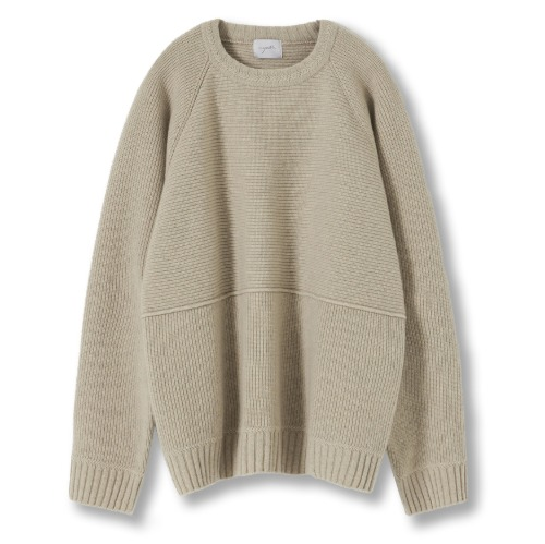 [YOUTH] Structured Sweater (Beige)