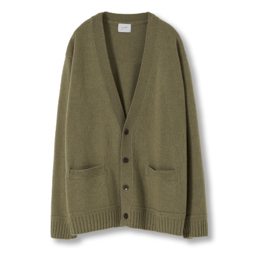 [YOUTH] Oversized Cardigan (Olive Grey)