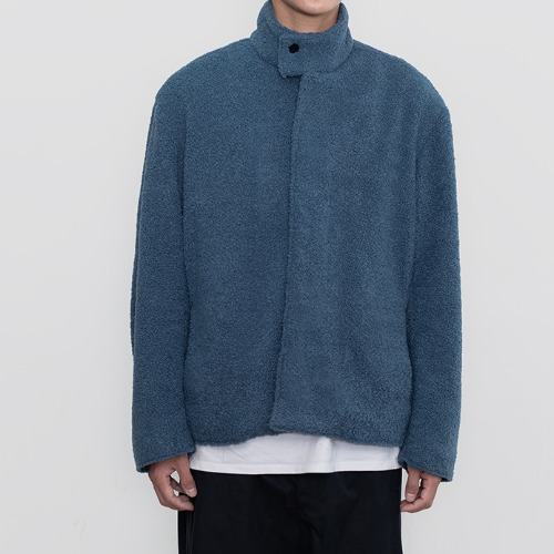 [polyteru] Fleece Blouson (Blue)