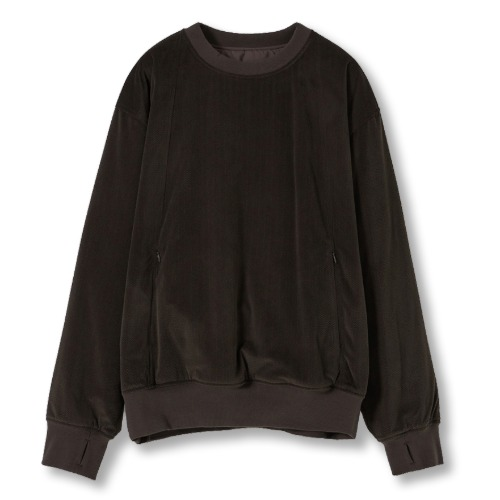 [YOUTH] Reversible Padded Sweatshirt (Brown)