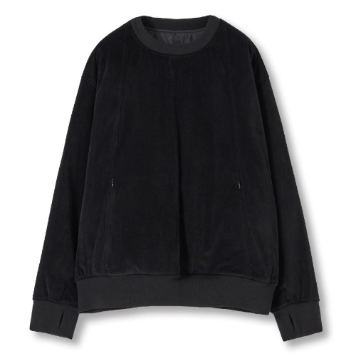 [YOUTH] Reversible Padded Sweatshirt (Black)