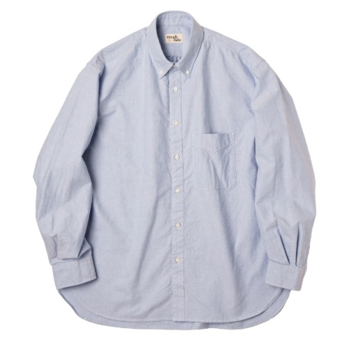 [rough side] Oxford Shirt (Sky Blue)
