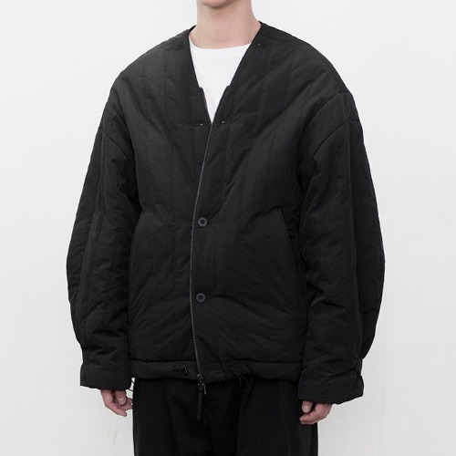 [polyteru] Quilted Cardigan (Black)