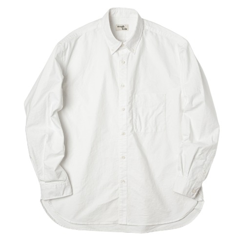 [rough side] Oxford Shirt (White)