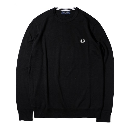 [FRED PERRY] Classic Crew Neck Knit (Black)