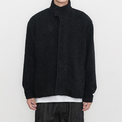 [polyteru] Fleece Blouson (Black)