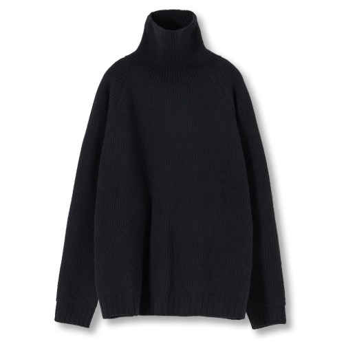[YOUTH] Oversized Turtle Neck Sweater (Black)