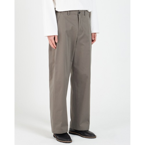 [YOUTH] Wide Chino Pants (Olive Grey)