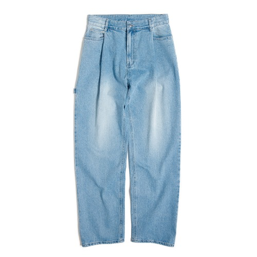 [UNAFFECTED] One Tuck Wide Denim (Light Blue)