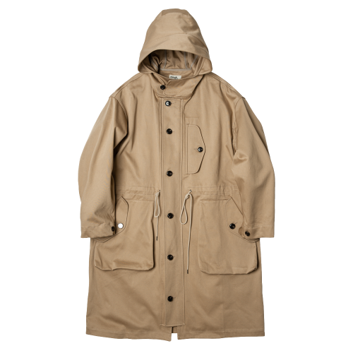 [rough side] RAF Long Parka (Beige)