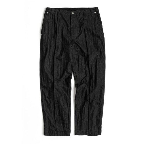 [UNAFFECTED] Contrast Stitch Pants (Black)