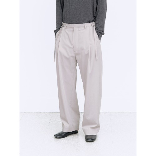 [polyteru] Curved Soh Pants (Gray Beige)